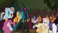 Queen Chrysalis laughing maniacally S8E13
