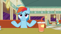 Rainbow Dash --if it's clothes or not-- S6E9