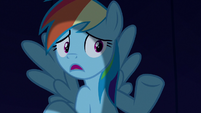 Rainbow Dash --we just hide out here until-- S6E15