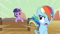 Rainbow Dash and Twilight Sparkle ditching Pinkie and Rarity S2E14