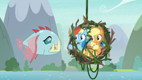 Rainbow and AJ notice bite-acuda Ocellus S8E9