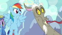 Rainbow and Discord laughing S5E22