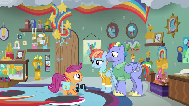 """File:Scootaloo """"getting chosen as a Wonderbolt"""" S7E7.png"""
