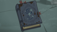 Star Swirl's journal on the rock pedestal S7E25