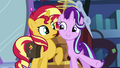 Starlight Glimmer suddenly standing next to Sunset EGS3.png
