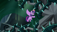 Twilight flying toward tree S4E02