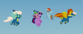 Wonderbolts fly around Twilight and Rainbow MLPTM.png