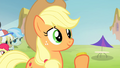 Applejack accepting Silver Shill's gift S4E20.png