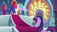 "Celestia ""protect Equestria in your absence"" S8E25"
