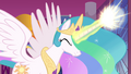 Celestia about to transfer her magic S4E26.png