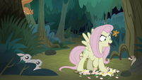 Fake Fluttershy stomps on a flowerbed S8E13