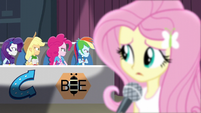Fluttershy looking at angry Wondercolts EG3