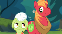 Granny Smith and Big McIntosh looking at each other S4E09