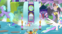 Mane Six enter school as the leaders leave S8E2