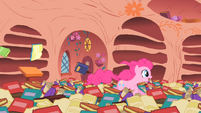 Pinkie Pie demonstrating 'Some are fast!' S1E16