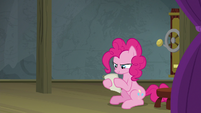 Pinkie Pie looking at the play script S8E7