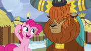 Pinkie asks Rutherford for honorary yak horns S7E11