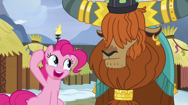 File:Pinkie asks Rutherford for honorary yak horns S7E11.png