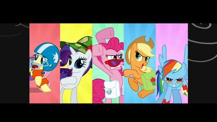 Ponies montage posing P-Team S1E07