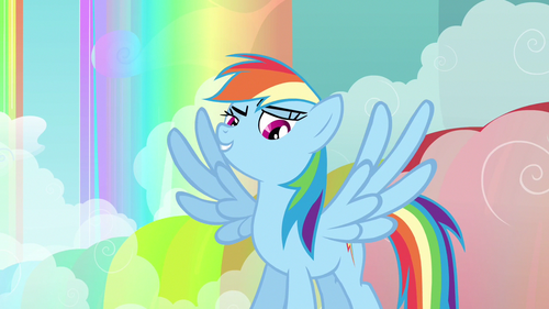 Rainbow Dash wings spread out S3E6