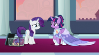Rarity tearfully smiling at Twilight S9E26