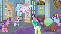 Silverstream offers to help hang posters S9E7