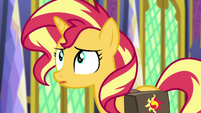 Sunset Shimmer making a realization EGFF