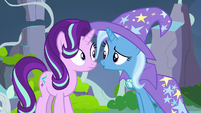 Trixie intrigued by what Starlight has to say S7E17