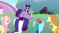 "Twilight Sparkle ""nopony had any success?"" S8E18"