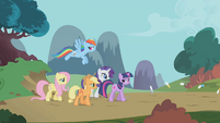 Twilight and friends follow the parasprites S1E10