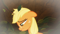Applejack stuck at bottom of the pit S9E10