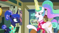 "Celestia ""you didn't need a stamp"" S9E13"