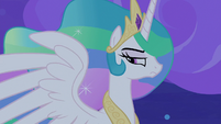 Celestia partially listening to Twilight S8E7