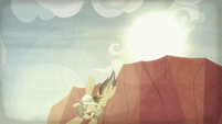 Daring Do swoops down from the sky S9E21