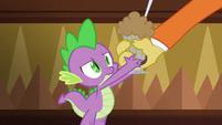 Discord gives Spike a chocolate milkshake S6E17