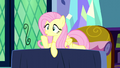 Fluttershy shushing Twilight and Spike S5E13.png