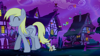 Giant Derpy walking away S5E13