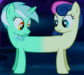 Lyra and Sweetie Drops merged ID S5E13.png