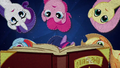 Mane Six look through History of the Crystal Empire BFHHS5.png
