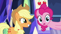 Pinkie Pie talking about Applejack S9E14