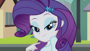 Rarity smiling at Diamond Dogs EG2