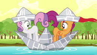 Scootaloo & Sweetie Belle hoping S2E23