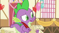 Spike -pretty sure dragons don't like flowers- S7E15