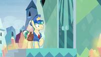 Sunburst's door closes in Mail Pony's face S8E8