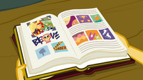 Sunset Shimmer's photo in an old yearbook EGFF