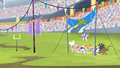 Teams on the field for the aerial relay S4E24.png