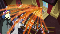 Tirek draining everypony in the auditorium S4E25