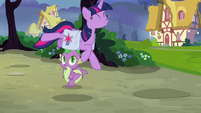 Twilight Sparkle leaps with excitement S9E16