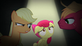 AJ and Big Mac look at Apple Bloom disapprovingly S5E4.png