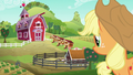 Applejack looks at the new and improved Sweet Apple Acres S6E10.png